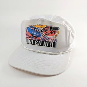 Nascar Hat Vintage 80s Strapback Small New Flaws